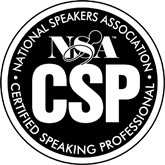 Motivational entrepreneurial thinking. is a Certified Speaking Professional