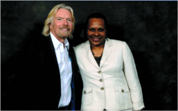 With Sir Richard Branson of The Virgin Group of Companies