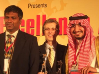 Receiving award at World HR Conference in Mumbai