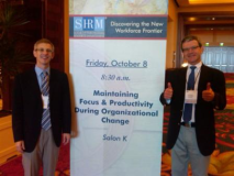 Before our speech at SHRM