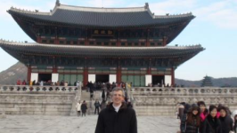 In Seoul, Korea before an executive workshop on conflict during change