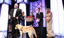 Michael HIngson accepts Hero Dog Award