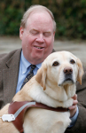Michael and guide dog, Roselle
