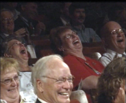 Audience Roaring with Laughter