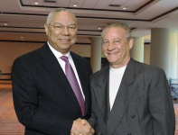 Colin Powell and Stan in Orlando