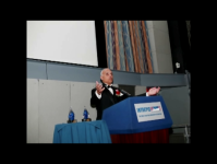 Speaking at the Intrepid Museum in New York City