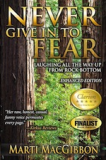 Book Cover: Never Give In To Fear: Laughing All the Way Up from Rock Bottom