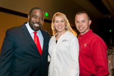 Mack and Ria with mentor, Motivational Speaker Les Brown