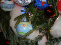 White House Christmas Tree Ornament by LisaBeth Weber