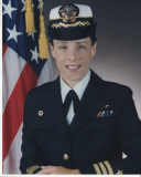 Official Picture of Linda as Commanding Officer of VRC-30