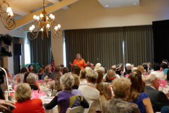 speaking at Soroptimist Fundraiser