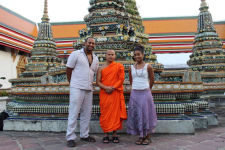 In Thailand with my fiancé and a monk!