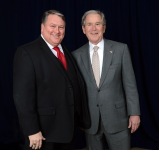 Eric Hogue and President George W. Bush