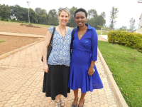 With Chantal, one of the stars of my book, in Rwanda