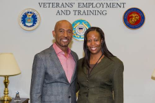 Montel Williams Visits the Dept of Labor