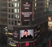 on a TIMES SQUARE billboard