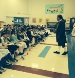 SPEAKING AT CHARTER GRADE SCHOOL