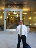 Outside Sony client after presentation Training program