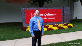 Standing outside Johnson & Johnson