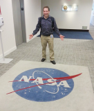 Kevin after NASA Presentation