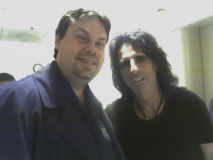 Burke Allen with Rock and Roll Hall of Famer Alice Cooper
