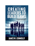 Creating Leaders to Build Teams Book