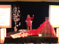 Nikki Speaking at the Go Red for Women Event