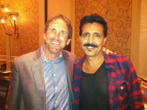 Ebix CEO Robin Raina and Shef in Vegas