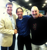 Shef, Jeffrey Gitomer, and John Assaraf before taking the stage