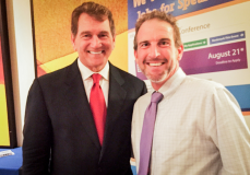 Joe Theismann and Shef Motivating In LA